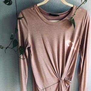 Blush dress with knot design
